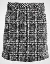 Dorothy Perkins MONO CHECK SKIRT Miniskjørt black/white