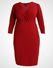 New Look Curves RIVERPOOL WRAP DRESS Sommerkjole bright red