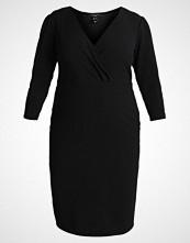 New Look Curves RIVERPOOL WRAP DRESS Sommerkjole black