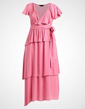 Lost Ink DRAPE TIERED MAXI DRESS Fotsid kjole pink