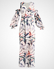 Lost Ink FLORAL DRESS Fotsid kjole offwhite