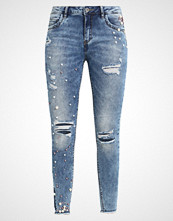 Only ONLKENDELL ANKPEARL Jeans Skinny Fit light blue denim