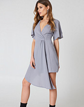 Boohoo Wrap Occasion Dress