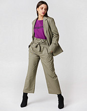 NA-KD Trend Tied Waist Wide Cotton Pants - Byxor