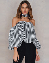 Boohoo Off Shoulder Stripe Blouse