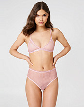 NA-KD Lingerie Frill Edge Dotted Mesh Panty rosa