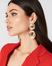 Tranloev Double Round Hanging Earrings guld