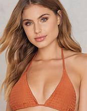 Hot Anatomy Wrinkled Triangle Bikini Top orange