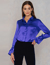 Rut&Circle Maci Pleat Shirt blå