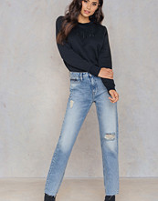Calvin Klein HR Straight Ankle Raw Jeans
