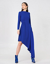 NA-KD Party LS Draped Jersey Dress blå