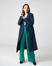 NA-KD Classic Striped Coat blå multicolor