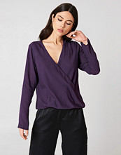 NA-KD Wrap Front Blouse - Blusar
