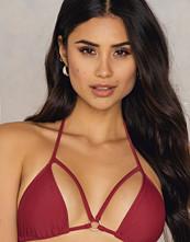 Rebecca Stella Triangle Double Strap Bikini Top röd