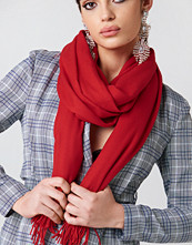 NA-KD Accessories Woven Scarf röd