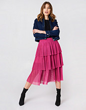 NA-KD Boho Pleated Mesh Skirt - Midikjolar