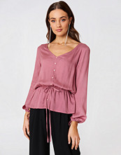 Rut&Circle Beline Button Blouse rosa