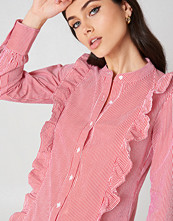 Rut&Circle Malina Stripe Shirt röd multicolor