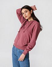 NA-KD Basic Basic Zipped Hoodie rosa