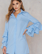 Boohoo Ruffle Sleeve Shirt Dress