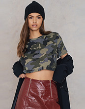 NA-KD Trend Oversized Cropped Army
