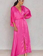 NA-KD Party Satin Coat Dress - Kaftan