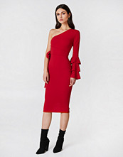 Boohoo Izzy One Shoulder Frill Tie Dress