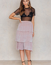 NA-KD Party Triple Layers Sparkle Skirt
