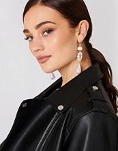 Mango Pearl-Effect Crystal Earrings