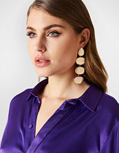 Tranloev Multi Hanging Structured Earrings guld