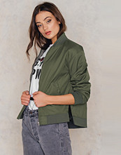 NA-KD Side Slit Bomber Jacket - Jackor