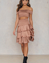 NA-KD Party Smock Satin Mini Skirt - Minikjolar