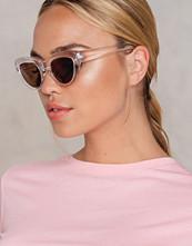 NA-KD Accessories Cat Eye Sunglasses vit silver