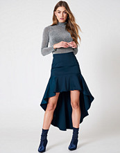 Qontrast x NA-KD Asymmetric Frill Skirt - Midikjolar