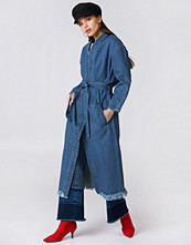NA-KD Trend Denim Coat - Jackor