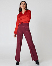 NA-KD Trend Jacquard Satin Wide Pants