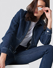 NA-KD Trend Short Denim Jacket - Jackor
