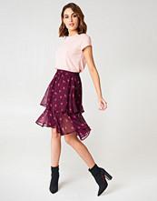 NA-KD Boho Double Frill Skirt - Minikjolar