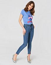NA-KD Highwaist Skinny Front Slit Jeans
