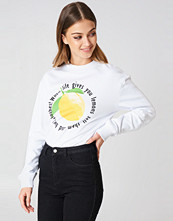 Rut&Circle Lemon Sweatshirt vit