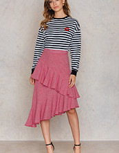 NA-KD Boho Double Layer Asymmetric Skirt - Midikjolar