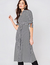 Mango Striped Shirt Dress vit