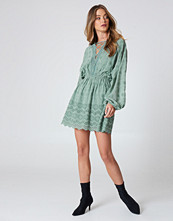 NA-KD Boho Lace Up Lace Dress