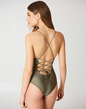 NA-KD Swimwear Lacing Back Swimsuit