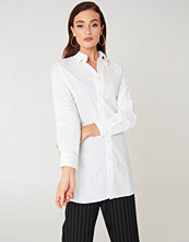 NA-KD Classic Basic Long Shirt vit