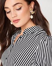 Mango Pearl Detail Metallic Earrings