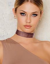 Tranloev Velvet Choker brun rosa