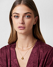 Tranloev Layered Stone Necklace brun guld