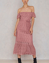 NA-KD Boho Lace Off Shoulder Dress