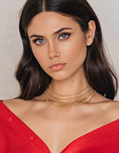 NA-KD Accessories Multi Row Choker Necklace